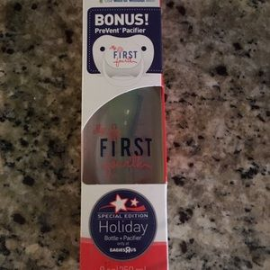 Baby's 1st 4th of July Bottle/Pacifier included